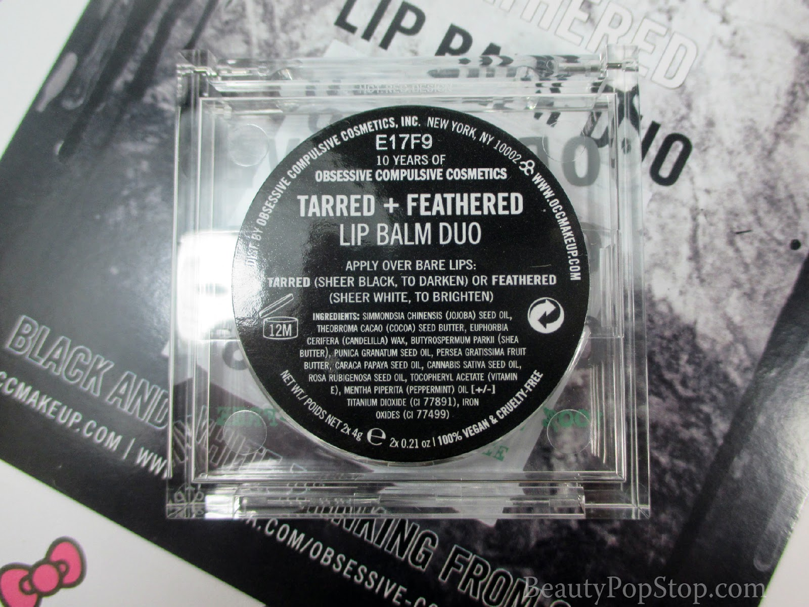 occ tarred and feathered lip balm duo review