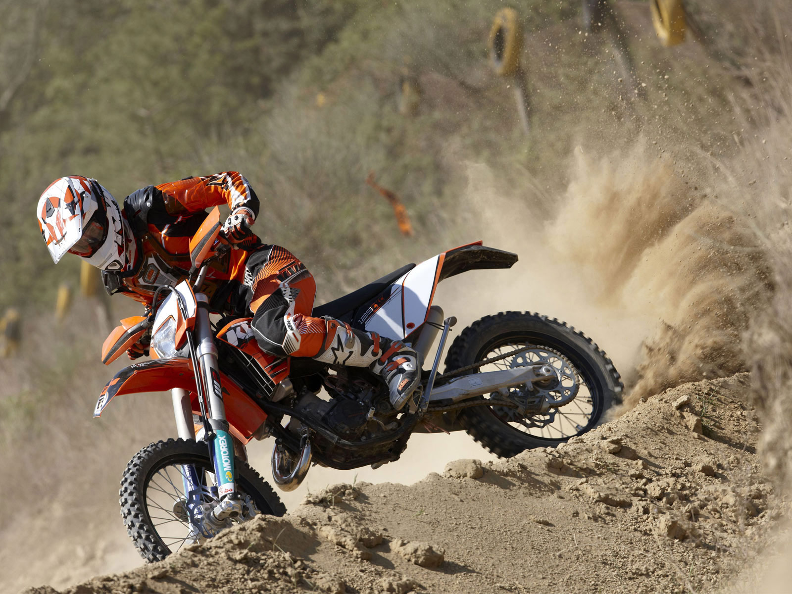 2010 Ktm 125 Exc Motorcycle Desktop Wallpaper