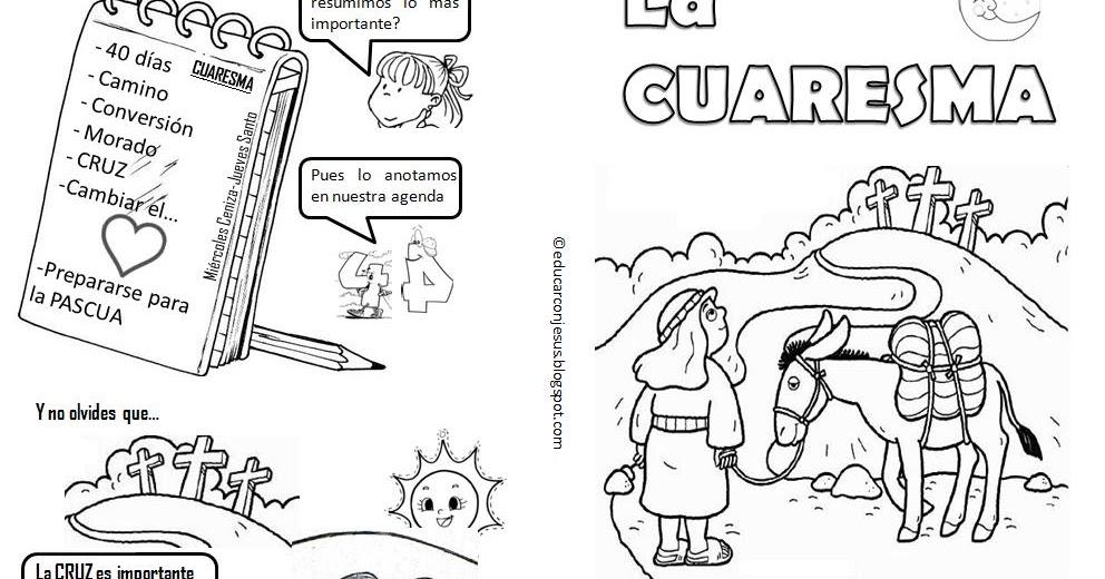 Educar con Jesús: Cómic de la Cuaresma (español e inglés)