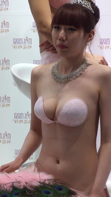 Asian Models Showing Off Some Interesting Bras In Public
