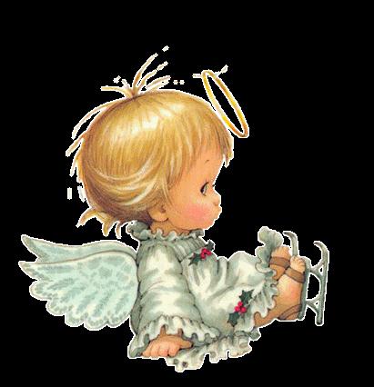 gif de angeles navidenos: