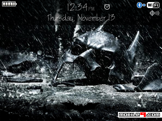 Tema BlackBerry 8520 TheDarkKnightRises Download Tema BlackBerry 8520 Gratis 2012