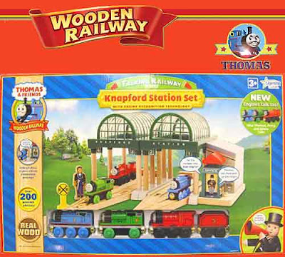 Thomas the train and friends wooden railway train set toy countless Talking Sodor phrases kids adore