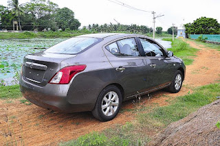 new Nissan sunny Dci rear view