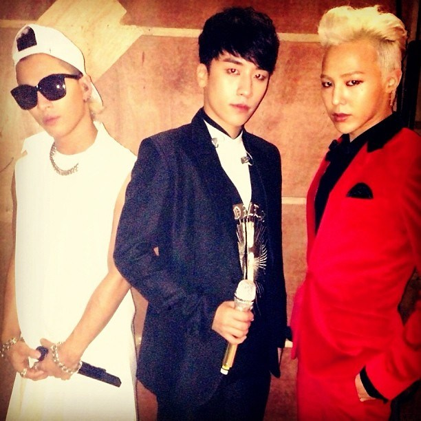 G-Dragon, Taeyang and Seungri on Inkigayo 130915_1