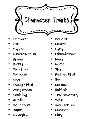 sarah s first grade snippets character analysis friday 20 2012