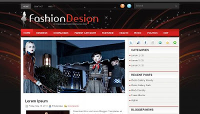FashionDesign Blogger Template