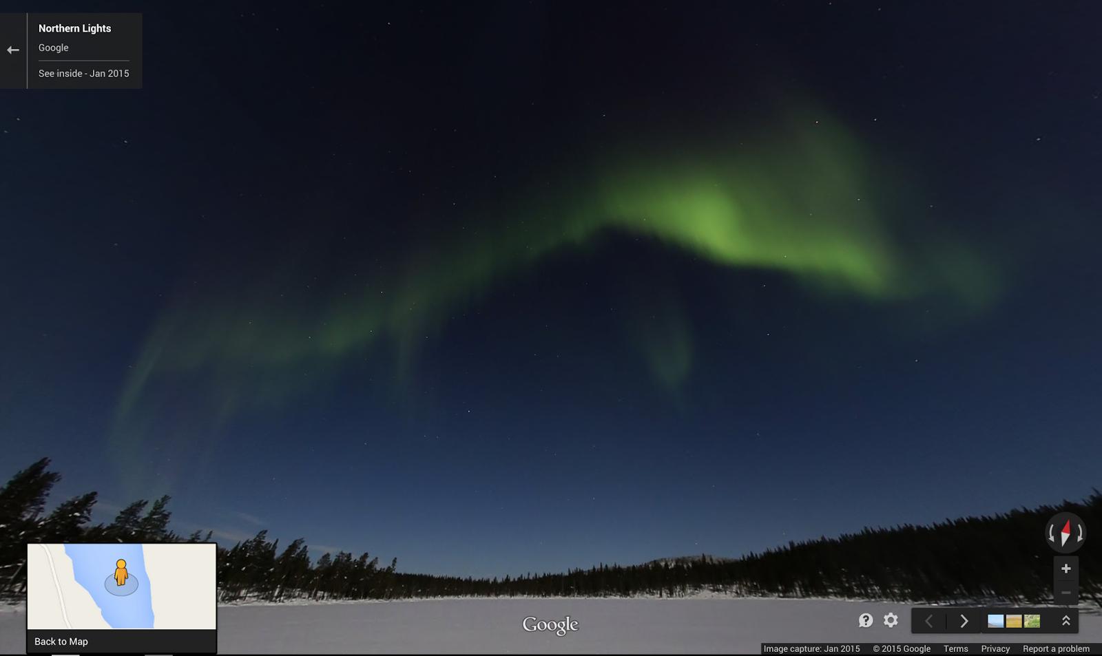 Google Lat Long The Aurora Borealis Lights Up Google Maps