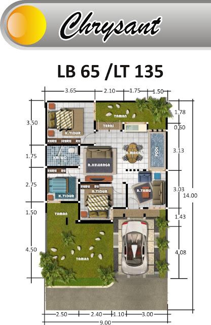 desain rumah type 65 informasi perumahan di malang
