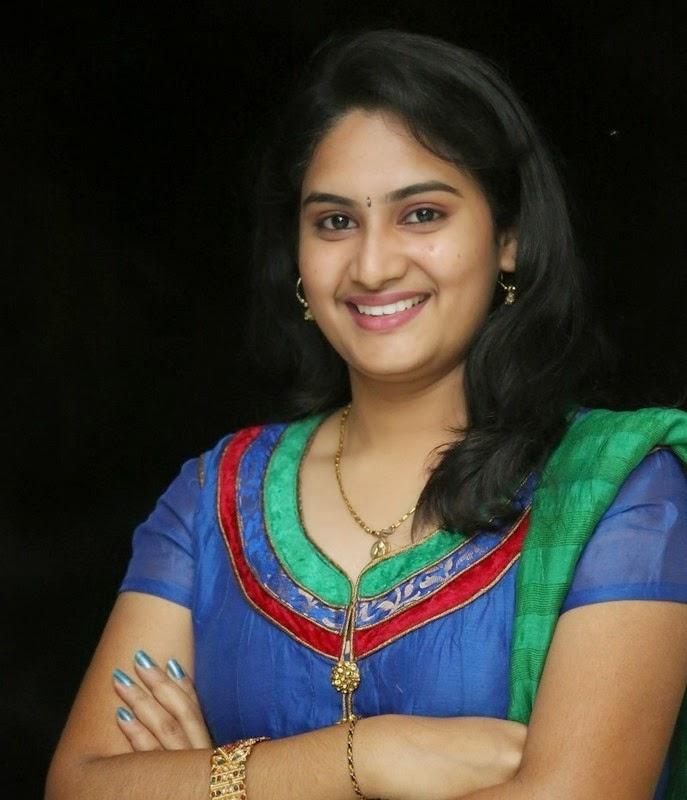Krishnaveni In Blue Suit New Stills
