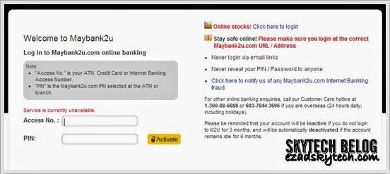 Laman Web Maybank2u Bermasalah Ke ?