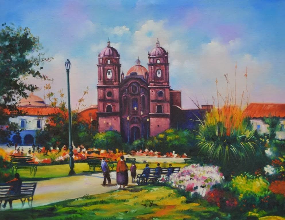 Modernos Pinturas : Cuadros de Paisajes Peruanos Pintados al Óleo