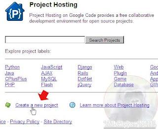Googlecode Hosting untuk Javascript, Css