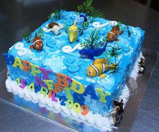 Contoh kue ulang tahun pertama anak tema hewan