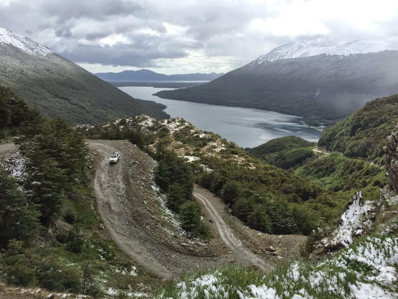 Ushuaia 4x4 Offroad tour - Aussicht vom Pass aus