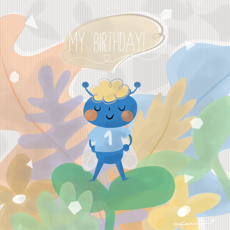greeting card, postales, insecto, cute, insect, birthday, cumpleaños