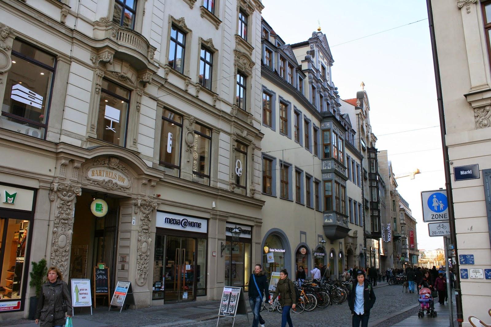 Hainstraße Leipzig in Richtung Höfe am Brühl