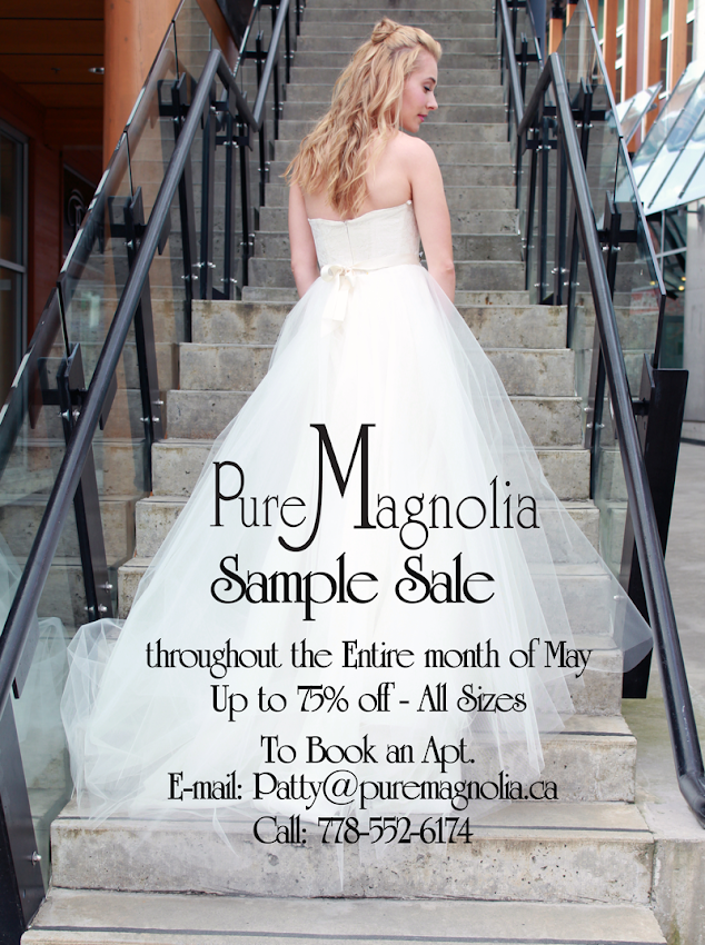 Pure Magnolia sample sale, eco wedding gown