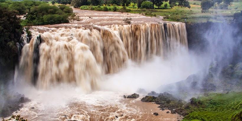 Tisz-Isszat-vízesés. Tisz-Abbai, Etiópia.