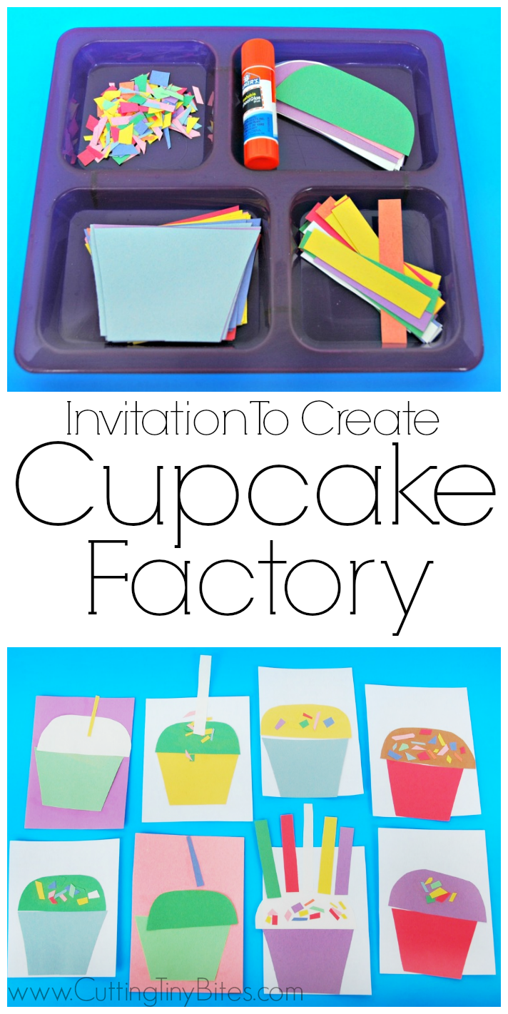 Construction Paper Cupcake Craft for Kids