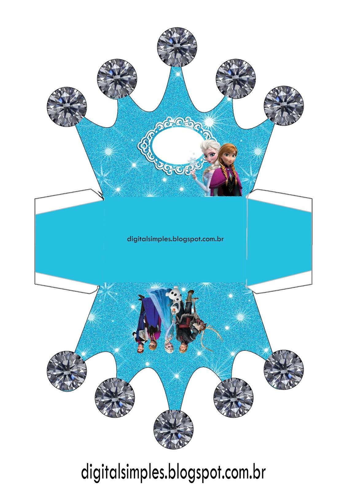 Favoritos Festa Tema Frozen para Imprimir Grátis - Convites Digitais Simples JJ06