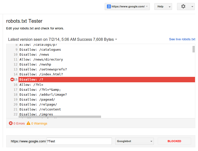 Test Robots.txt File For Errors