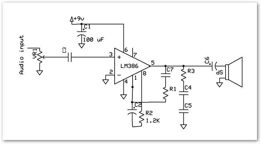 electronics for hobbyist 5W LM386 Audio Amplifier Circuit LM386 Audio Amplifier Circuit Wiring
