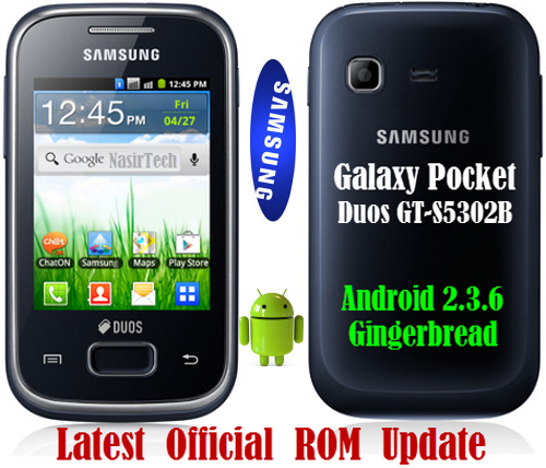 GB Official Firmware for Galaxy Pocket Duos GT-S5302B [Update Guide