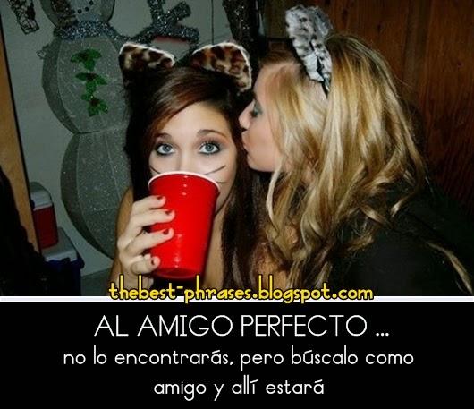 Al amigo perfecto no lo encontrarás, pero búscalo como amigo y allí estará.