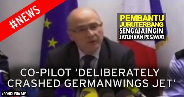 Video Laporan Rasmi: Co-Pilot Germanwings sengaja jatuhkan pesawat