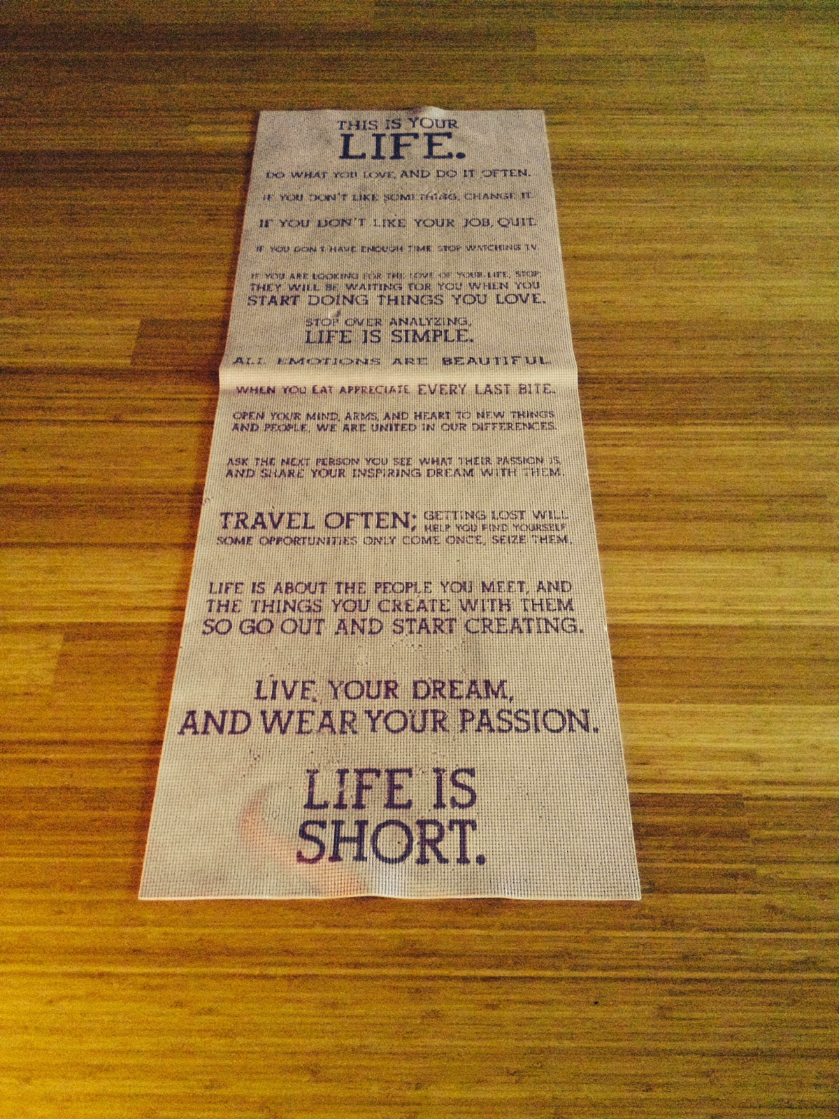 This is your life yoga mat