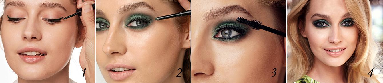 Maquilhagem de Olhos em Tons de Esmeralda: Passo a Passo