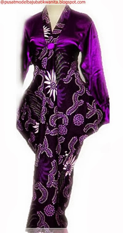 Model baju gamis batik pesat kombinasi dan aneka warna Gambar baju gamis batik wanita