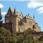 Vianden Castle -  west of the Rhine, Luxembourg