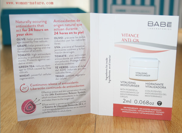 Babe Vitance Anti-Ox crema