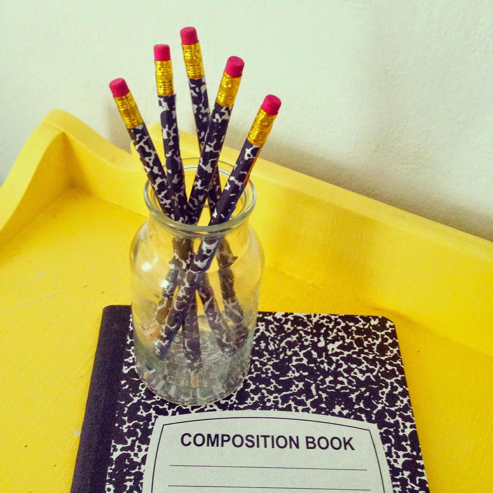 Composition Notebook Pencils