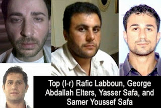 From top left, Rafic Labboun (a.k.a. Wilhelm Dyck), George Abdallah Elters, Yasser Safa and Samer Safa