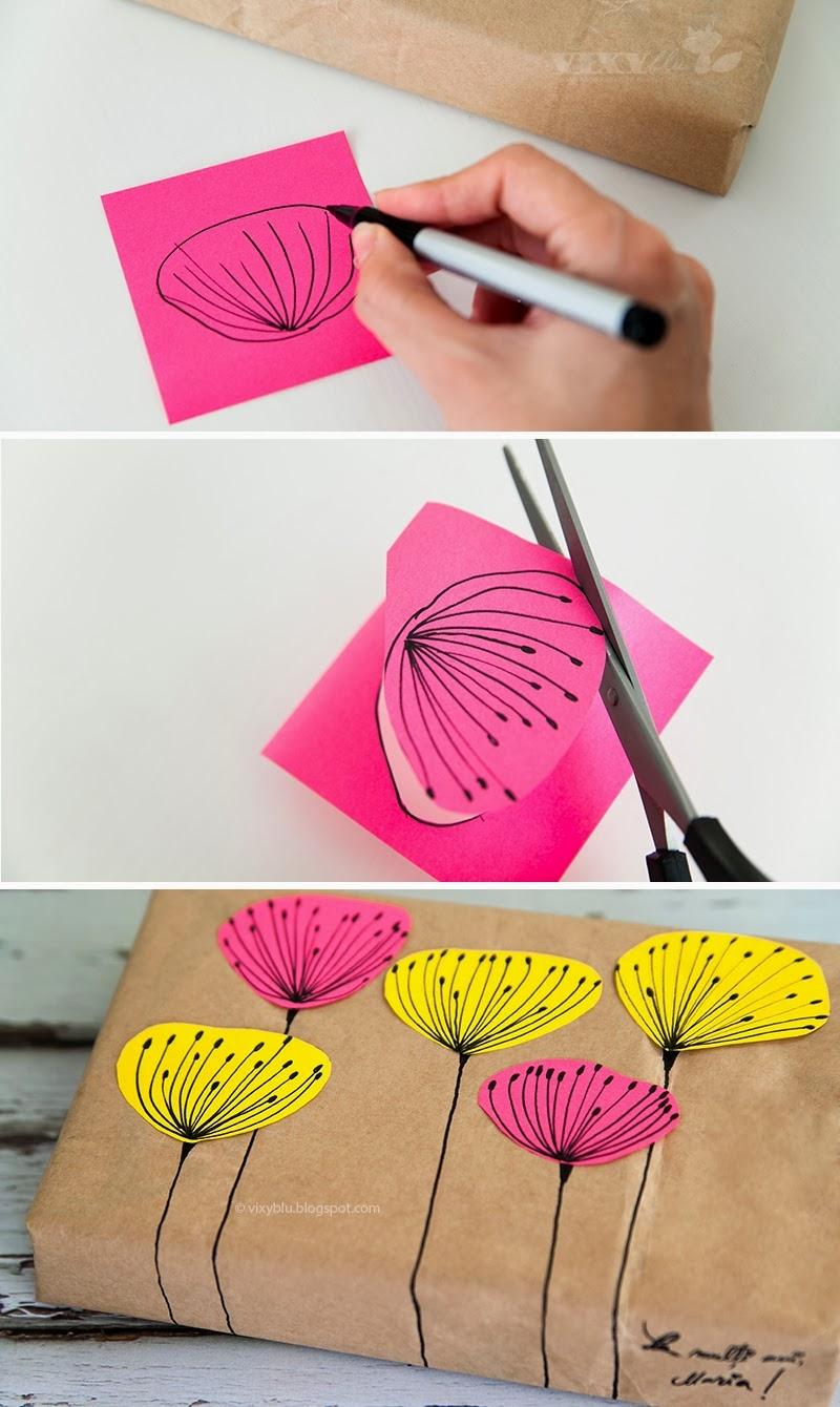 Recicla inventa c mo envolver regalos r pido con papel kraft - Papel de regalo original ...