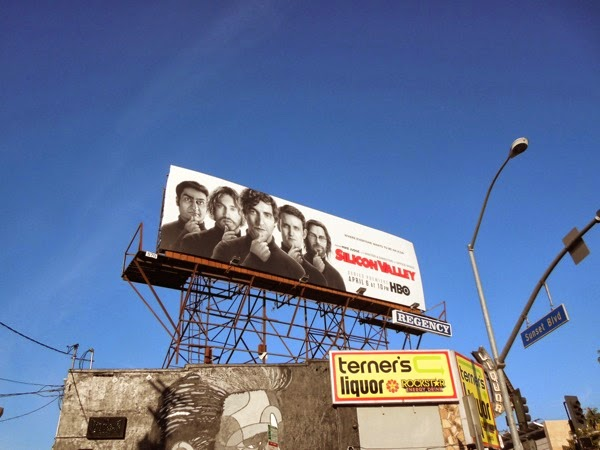 Silicon Valley series 1 HBO billboard