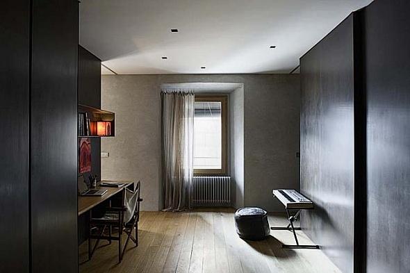 Habitación de moderno apartamento con estilo rústico