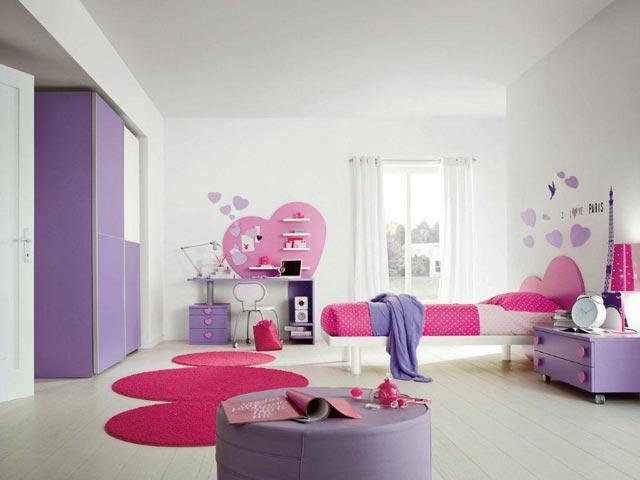 chambre fille ado violette chambre de fille