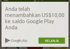 Redeem kode kupon ke Play Store di Indonesia resmi