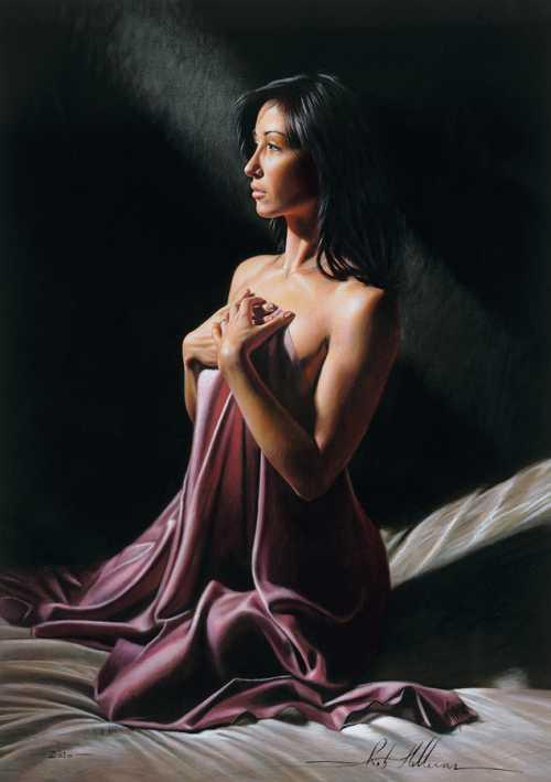 rob hefferan pintura hiper realista mulheres sensuais