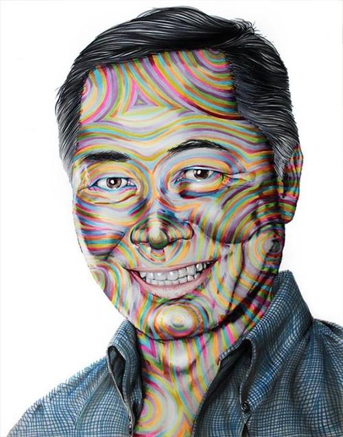 11-George-Takei-Star-Trek-Joshua-Roman-Rainbow-Portraits-Drawings-Illustrations-www-designstack-co