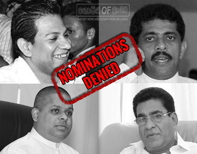 Duminda Silva, Marvin silva and two former MPs denied UPFA nominations