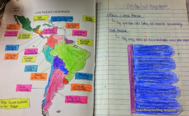 Creatively Teaching Spanish Speaking Countries and Capitals Island