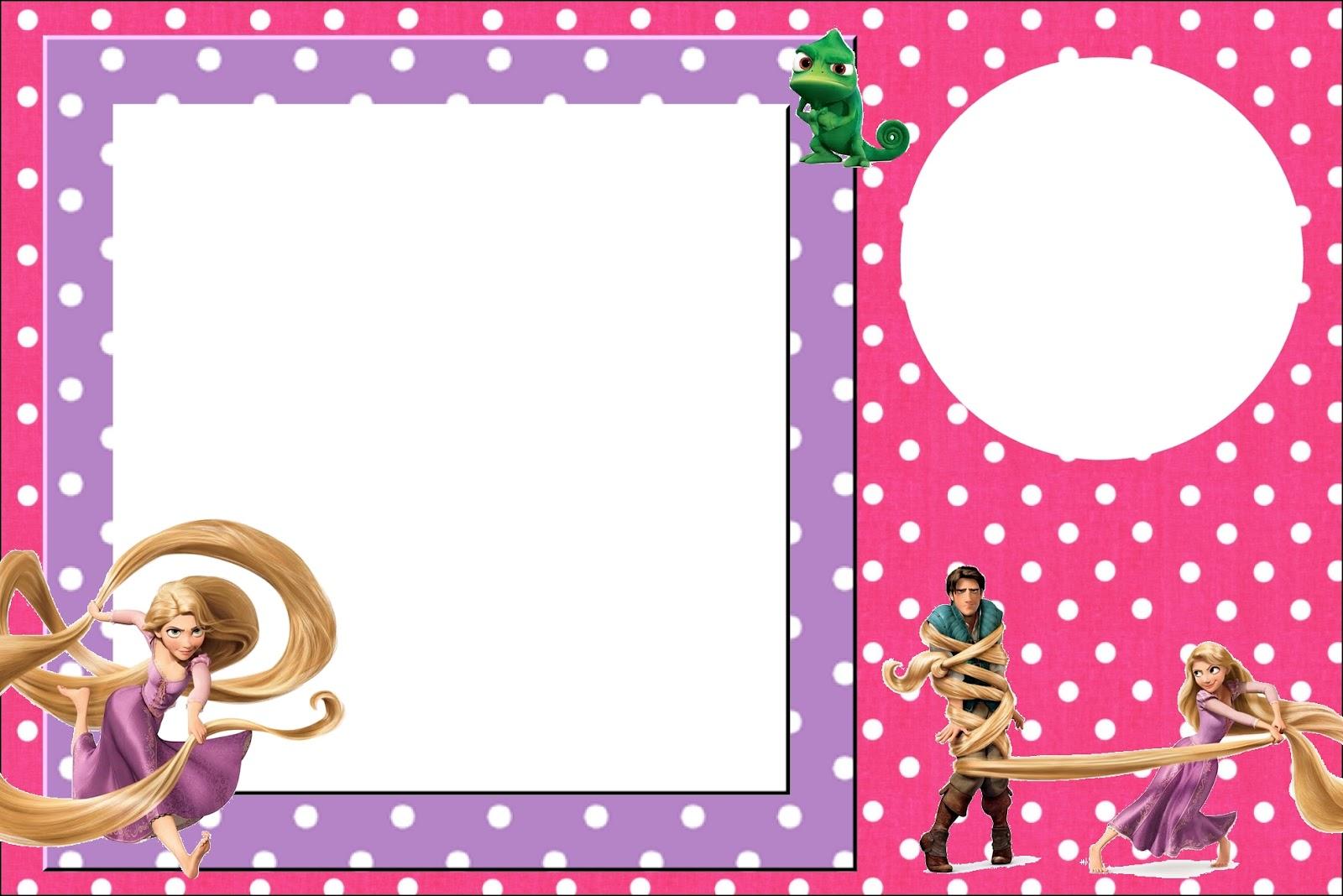 Invitaciones de Enredados (Rapunzel) para imprimir gratis