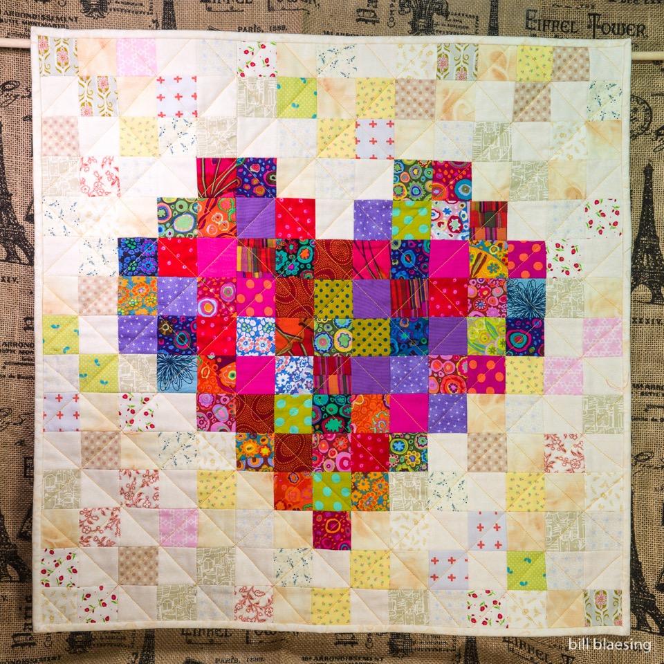 Kaitymade Pixelated Heart Quilt