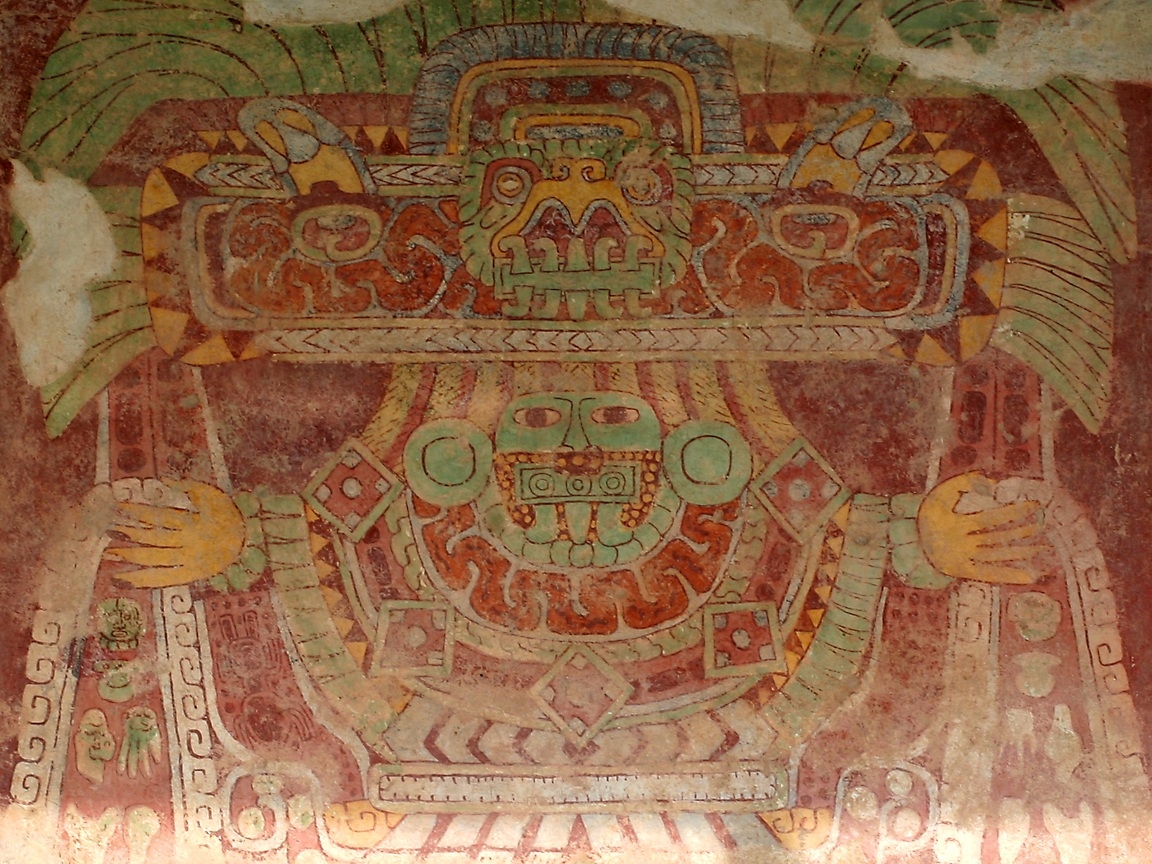 Teotihuac n ii the shape of space and time jenny 39 s for Mural quetzalcoatl