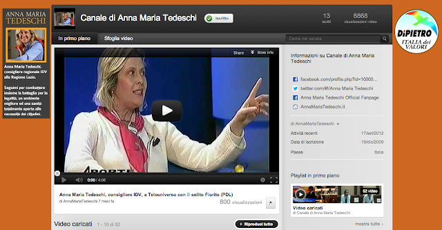 canale youtube annamaria tedeschi